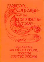'Relating sound to color and the Cosmic Octave' by Hans Cousto -- bookcover of the first edition